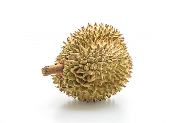 Frischer durian auf weißem hintergrund