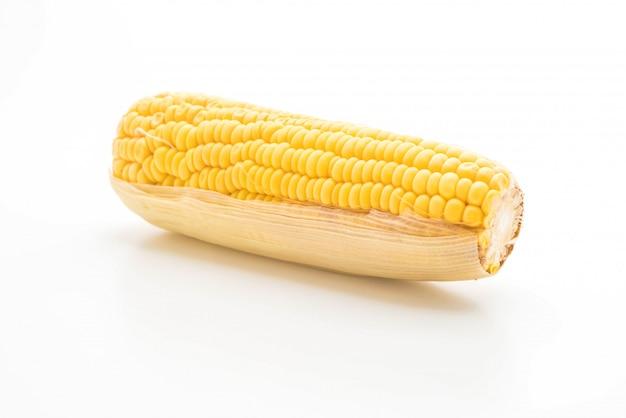Frischer mais auf weißem hintergrund