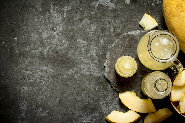 Frischer melonensaft.