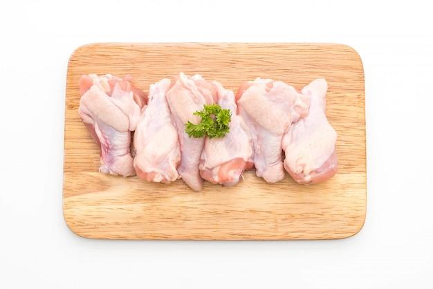 Frischer roher trommelstock des hühnerflügels