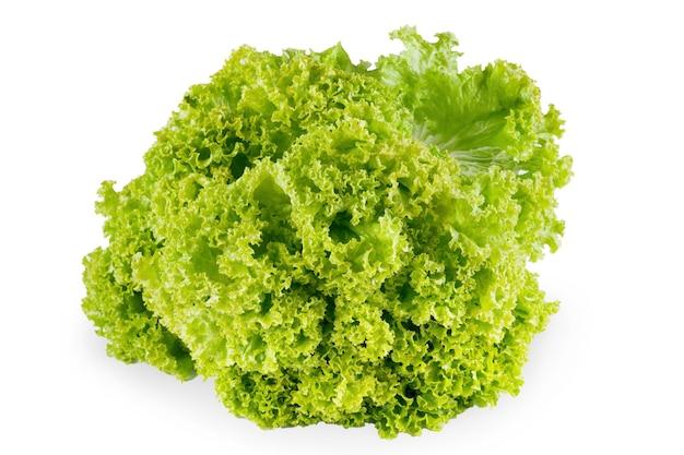 Frischer salat isoliert. nahaufnahme von bio-gemüselebensmittel, diätkonzept