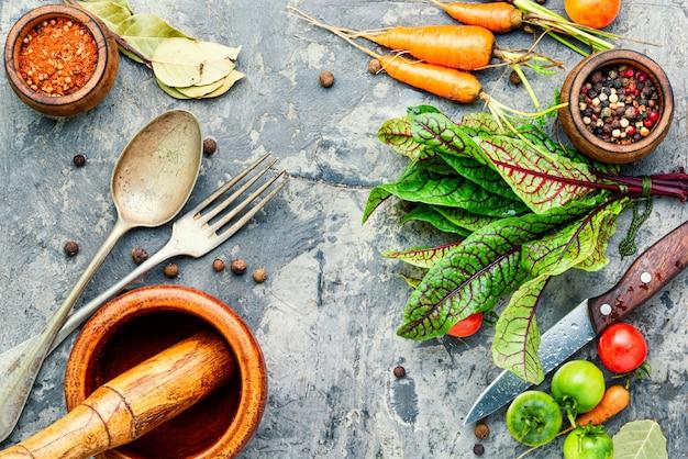 Frisches gemüse für salat