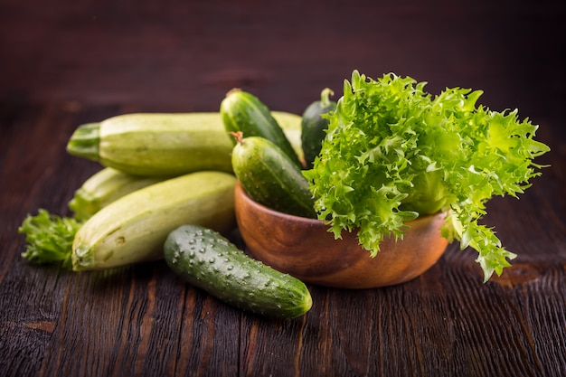 Frisches grünes gemüse