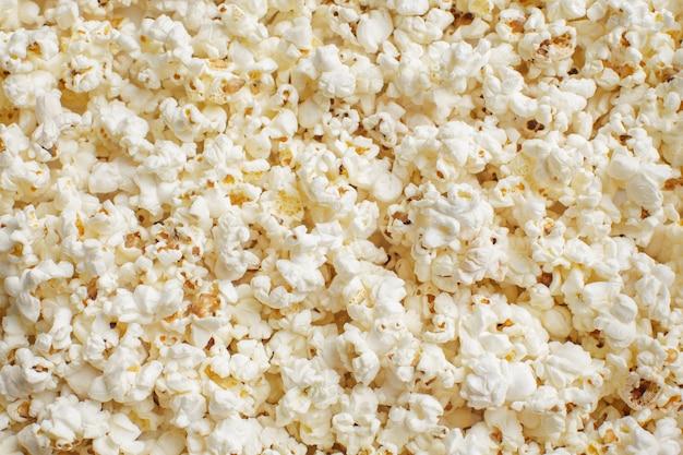 Frisches popcorn, lebensmittelhintergrund