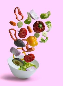 Frisches salatgemüse