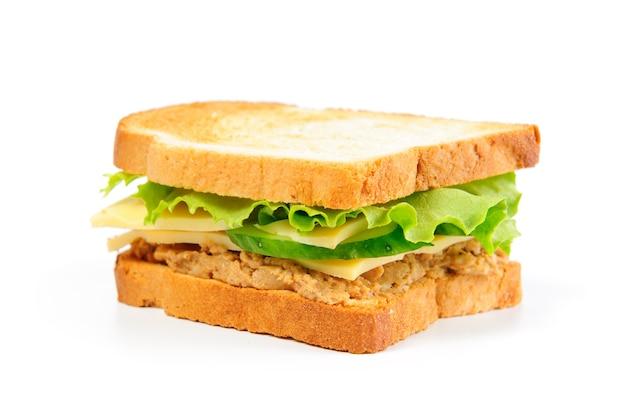 Frisches sandwich isoliert