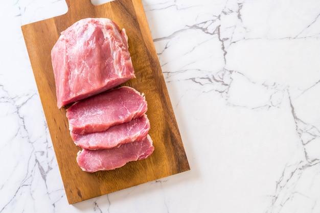 Frisches schweinefleisch rohes filet