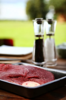 Frisches und sehr leckeres steak