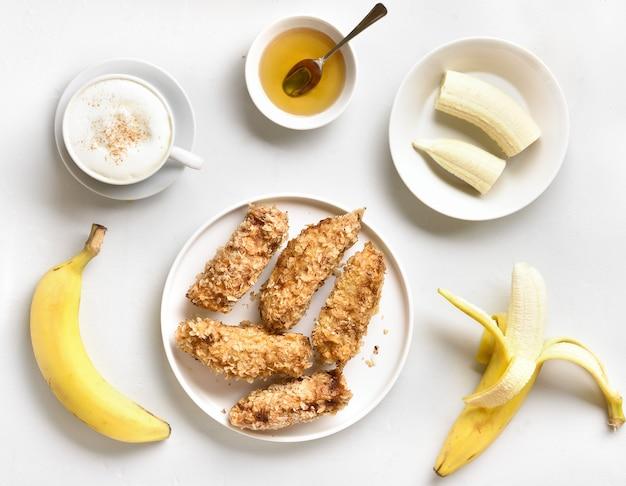 Frittierte bananen