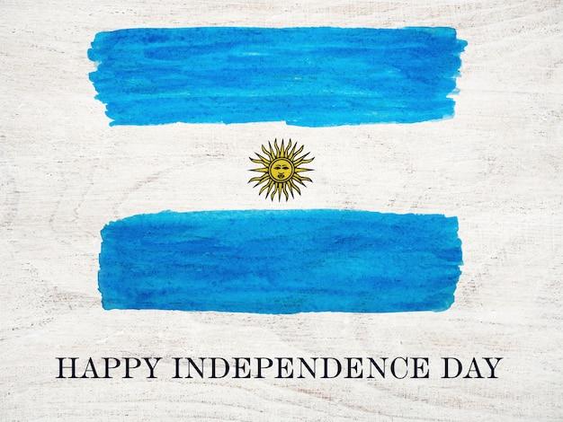 Fröhlichen unabhängigkeitstag. schöne grußkarte. nahansicht