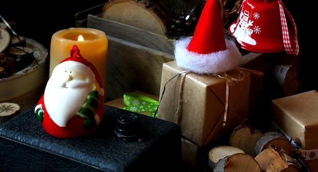 Frohe magie frohe weihnachten santa hut