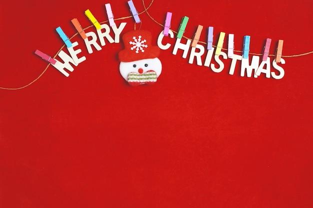 Frohe weihnachten grußnachricht auf rot