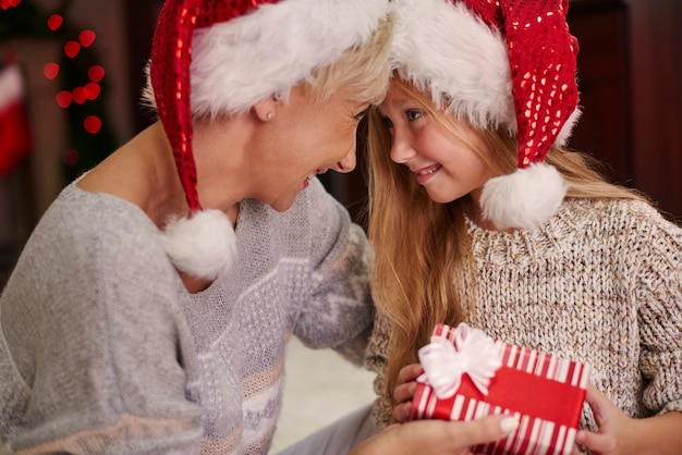 Frohe weihnachten mein geliebtes mädchen