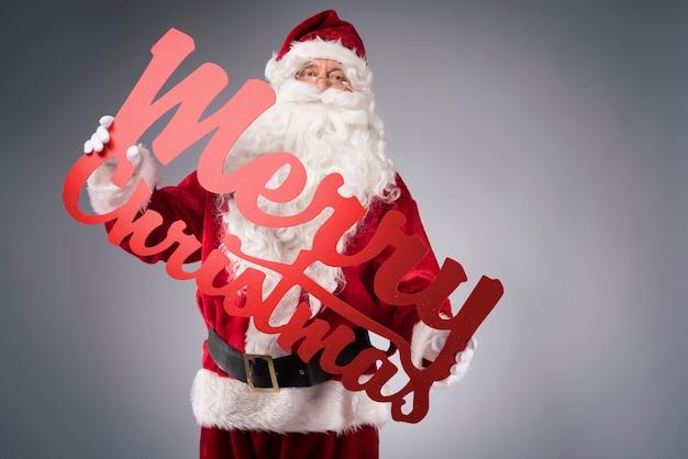 Frohe weihnachten mit dem weihnachtsmann