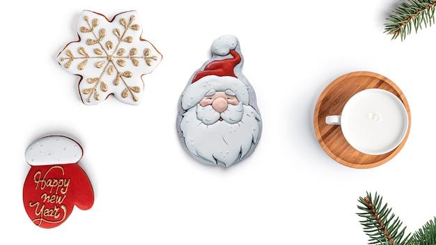 Frohe weihnachten mit lebkuchen.