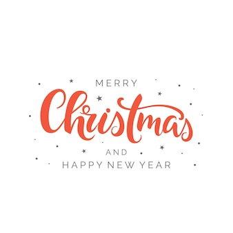 Frohe weihnachten pinselschrift im blumenkranz handgeschriebene weihnachtstypografie