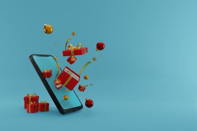 Frohe weihnachten-podien mit produktionshintergrund 3d-rendering