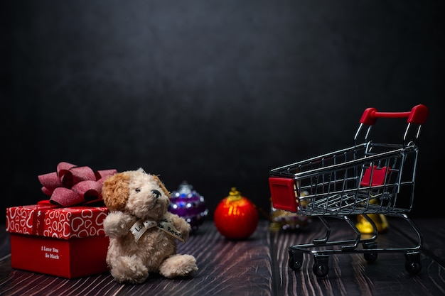 Frohe weihnachten shopping festival fotokonzept
