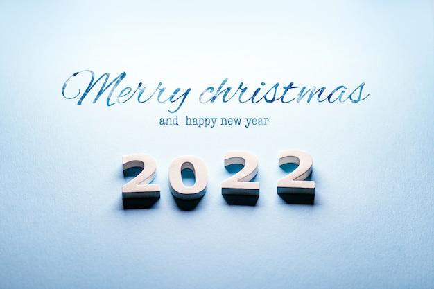 Frohe weihnachten und ein gutes neues jahr 2022postkarte neujahr 2022weihnachtskarte 2022 winter 2022