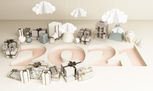 Frohe weihnachten und ein gutes neues jahr. abstraktes minimales design, geometrisches weihnachten
