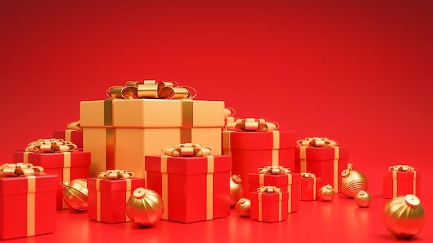 Frohe weihnachten und ein gutes neues jahr banner luxus-stil.