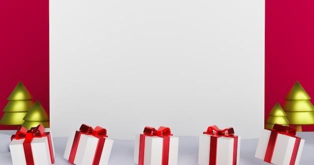 Frohe weihnachten und ein gutes neues jahr, weihnachtshintergrund mit podium für ein produkt 3d rendering.