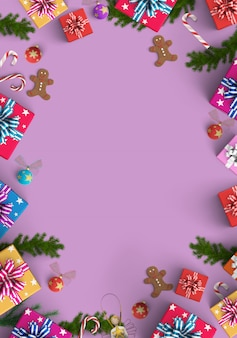 Frohe weihnachten und geschenkboxhintergrund