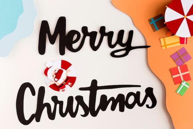 Frohe weihnachten und geschenke in papierform