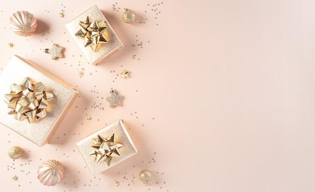 Frohe weihnachten und neujahrsfeier konzept.