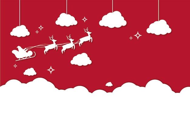 Frohe weihnachtstapete mit claus