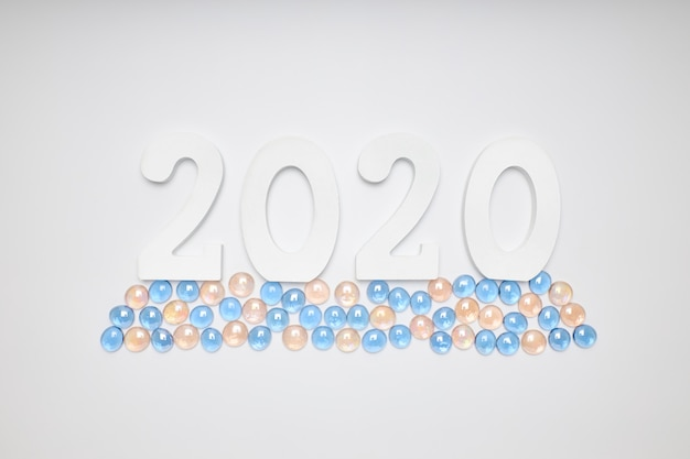 Frohes neues jahr 2020. symbol aus der nummer 2020