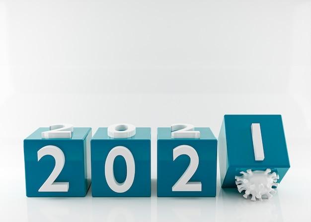 Frohes neues jahr 2021 und coronavirus