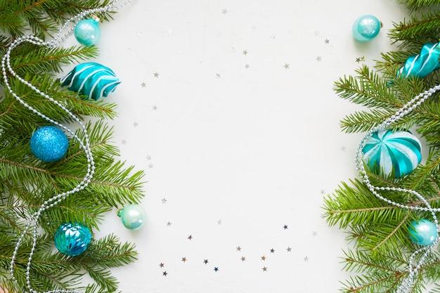 Frohes neues jahr und frohe weihnachten. hintergrund