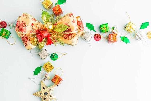 Frohes neues jahr und weihnachten hintergrund mit textfreiraum