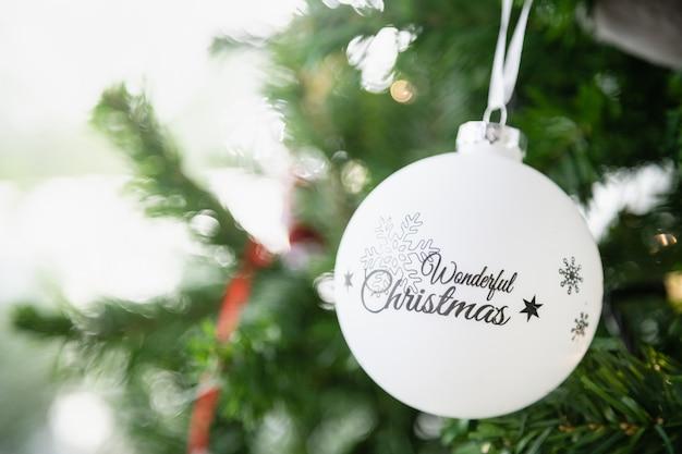 Frohes neues jahr, weihnachten und holiday season concept.