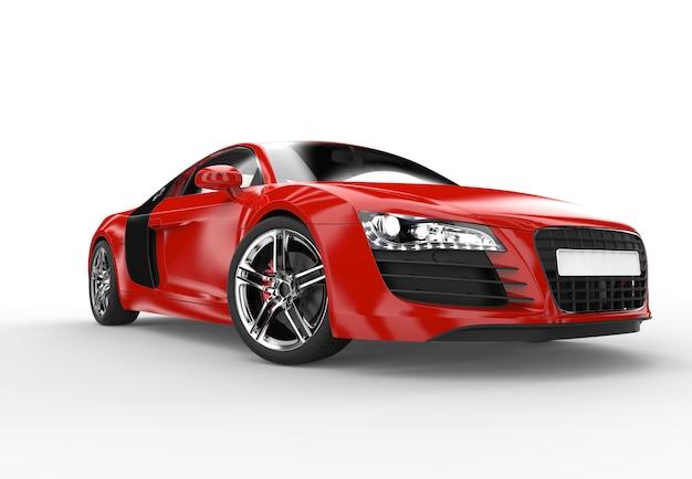 Front eines generischen roten sportwagens