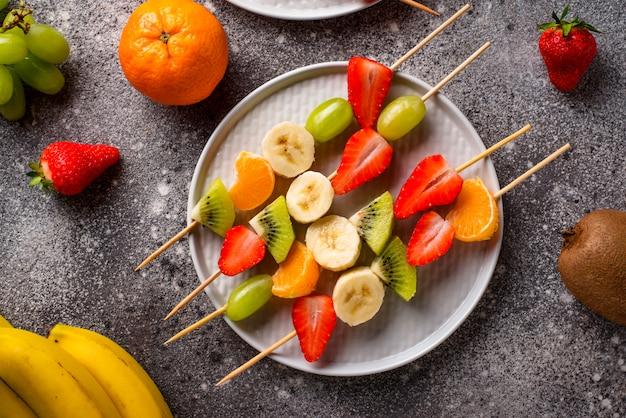 Fruchtaufsteckspindeln, gesunder sommersnack