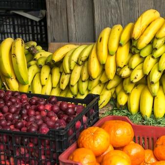 Früchte für verkauf am markt, ruta centro, san miguel de allende, guanajuato, mexiko