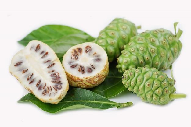 Früchte von noni oder morinda citrifolia
