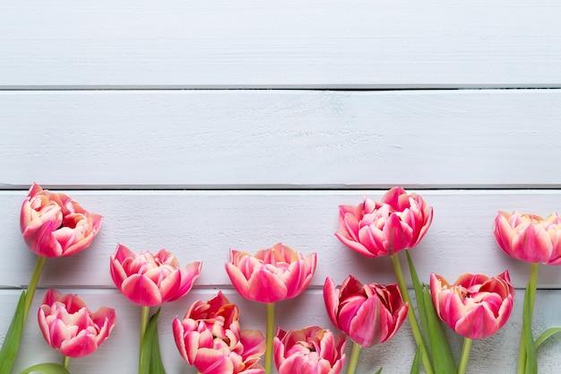 Frühlingsblumen tulpenstrauß isoliert