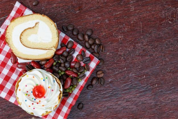 Frühstück cupcakes, brötchen.