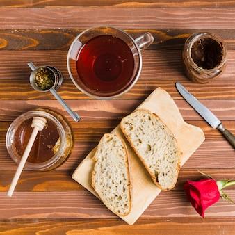 Frühstück mit tee
