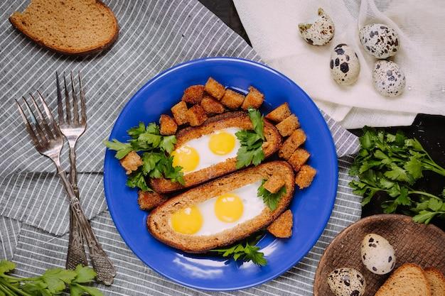 Frühstück mit wachteleiern