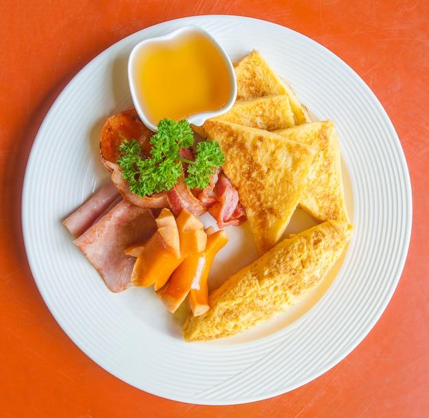 Frühstück und morgenlicht