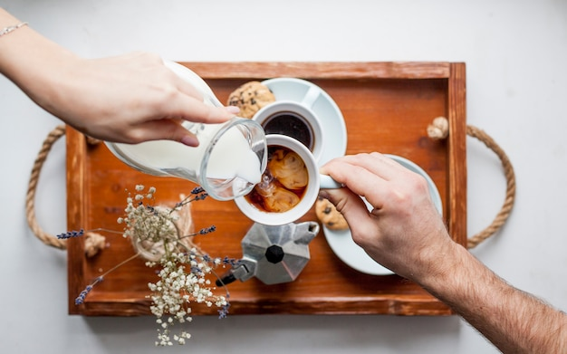 Frühstückstablett