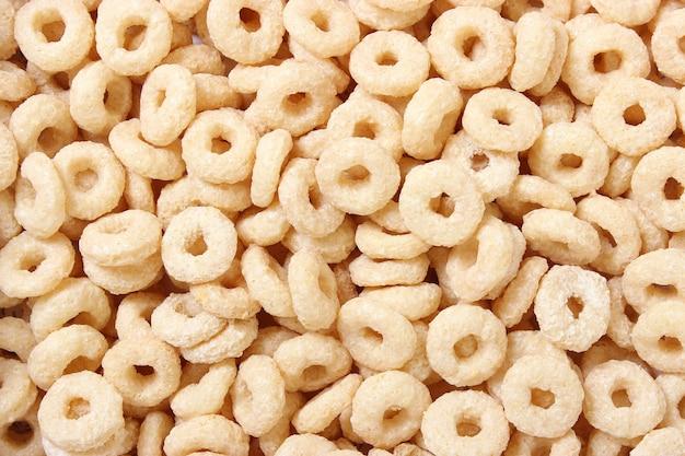 Frühstückszerealienhintergrund draufsicht trockenes frühstück