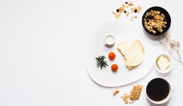 Frühstückszusammensetzung mit copyspace