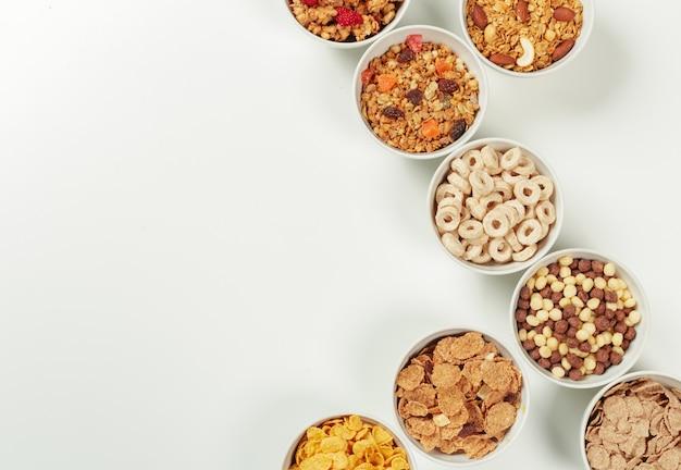 Frühstückszutaten für gesunde ernährung