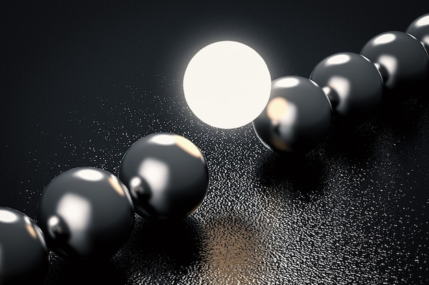 Führungskonzept mit leuchtkugel