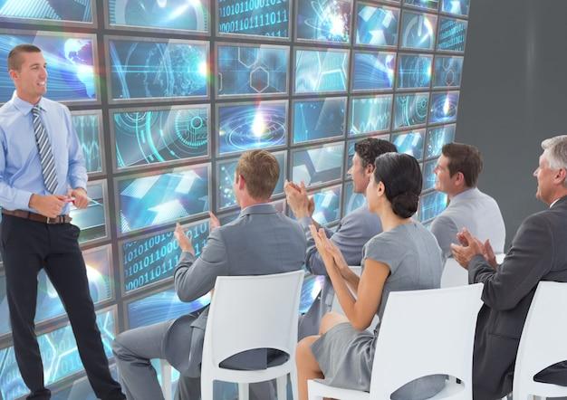 Führungskräfte frau codierung personal tech